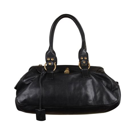 Fashion Doctor Bag Y 1 yves laurent black leather muse soft doctor bag tote bowler bag handbag for sale at 1stdibs