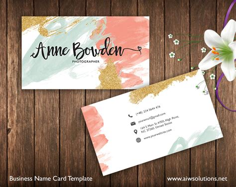 Name Day Card Template by Premade Business Card Template Name Card Template