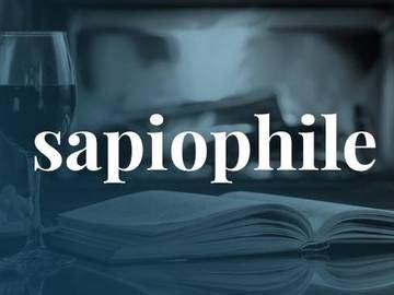 sapiophile slang definition  sapiophile