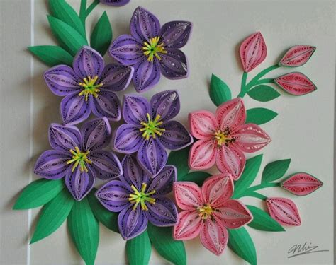 Paper Quilling Flowers - flowers beautiful quilling