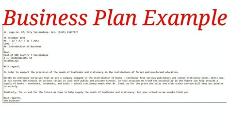 Template Sle Of Business Plan Template Coffee Shop Business Plan Template Pdf