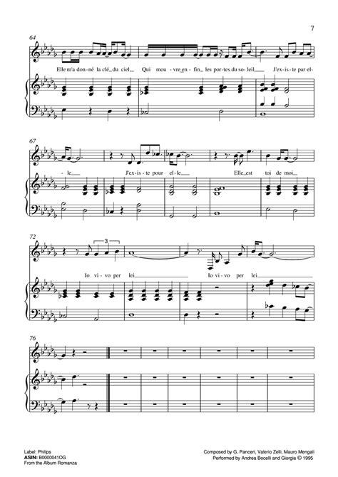 tutorial piano vivo por ella partitura para piano de vivo per lei de andrea bocelli