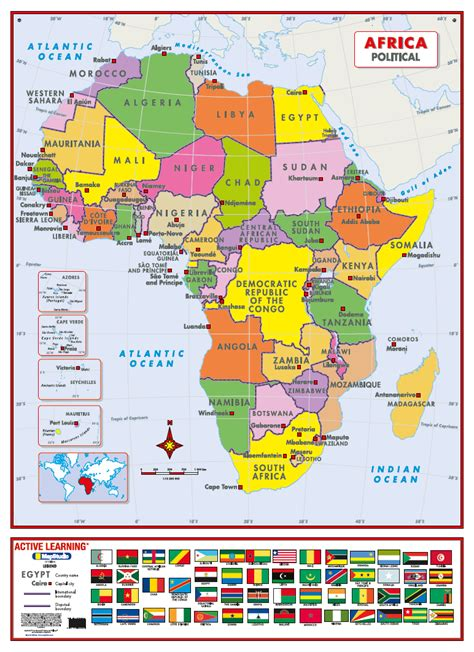 african political map paintingsforsale