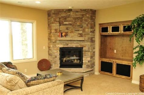 stone corner fireplace decosee stone corner fireplace