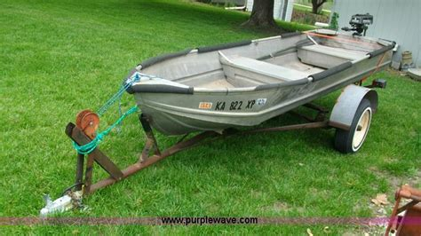 14 v bottom aluminum boat 14 aluminum v bottom boat item c1121 sold june 12