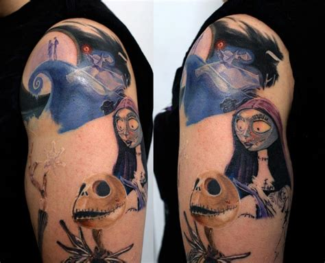 jack skellington and sally tattoos 25 skellington tattoos