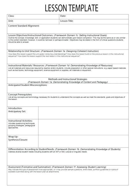 lesson plan template higher education fantastic curriculum framework template photos wordpress
