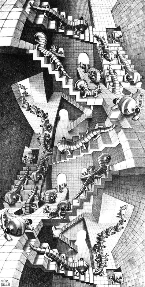 escher treppe house of stairs m c escher wikiart org encyclopedia
