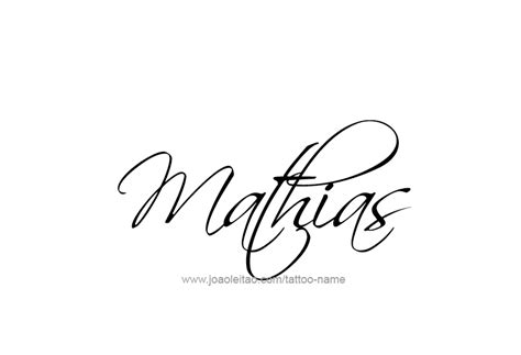 mathias name tattoo designs