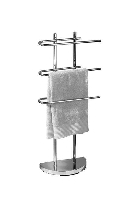 Floor Standing Towel Rack by Chrome Floor Standing Towel Stand Rack With 3 U Shaped
