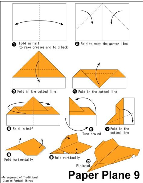 How To Make The Fastest Paper Airplane Step By Step - origami paper plane 9 easy origami for