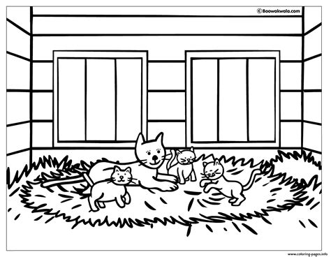 coloring pages big house kittens in a big house coloring pages printable