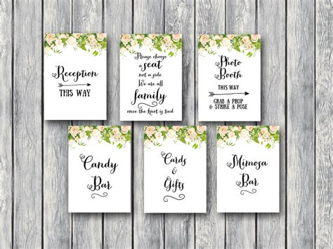 free printable wedding shower signs download peonies wedding sign printable bride bows