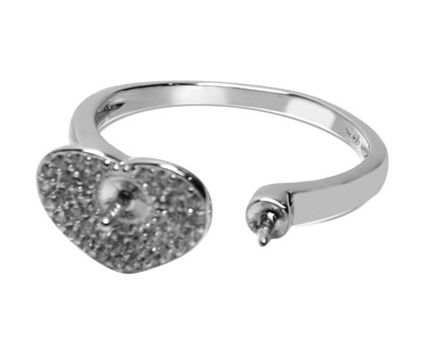 shape micro paved 925 sterling silver adjustable