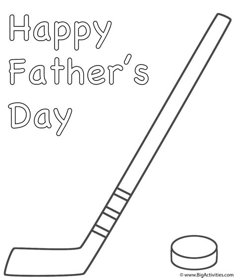 coloring pages of a hockey stick hockey stick with puck coloring page father s day