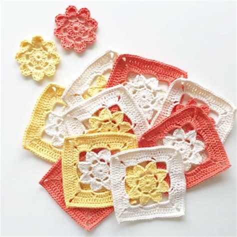 Handmade Patterns - easy peasy flower squares allfreecrochet