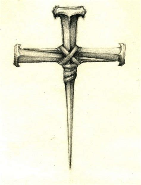 cross of nails tattoo 1000 ideas about cross tattoos on cross