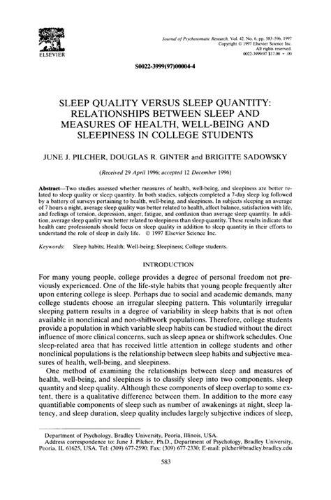 sleep quality pdf pdf sleep quality versus sleep quantity relationships