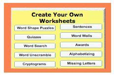 Make My Own Spelling Worksheets by Free Teaching Tools On Spelling Words Php And