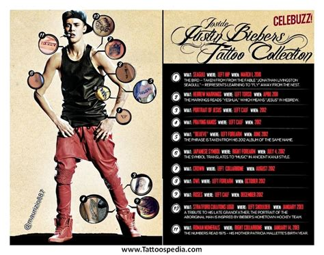 justin bieber tattoo list 2014 justin bieber tattoo list 2