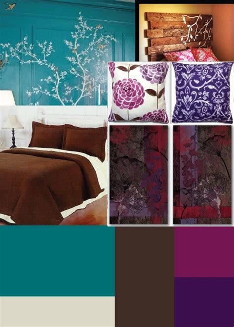 teal and chocolate bedroom brown bedding with dark purple and cranberry accents