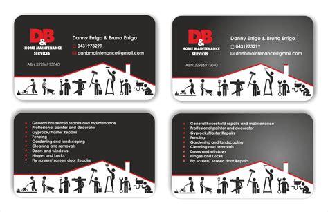 home maintenance business card template modern professional business card design design for d b