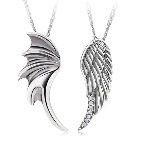 """Angel Wings"" 925 Sterling Silver Couples Necklaces"