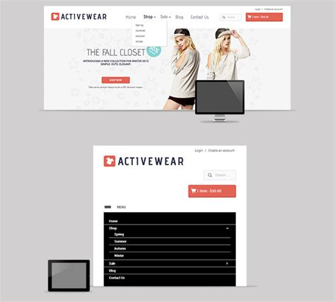 shopify themes with drop down menu responsive shopify theme activewear ecommerce