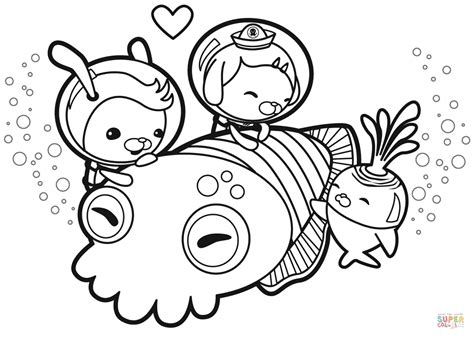 cuddle with a cuttlefish coloring page free printable