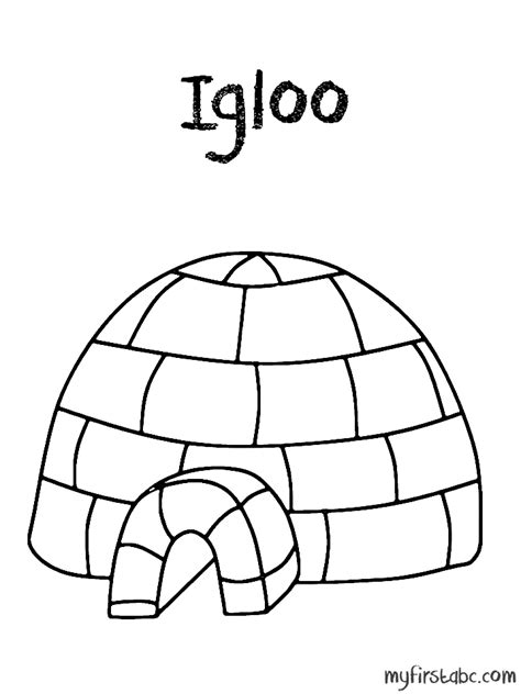 coloring page for igloo free coloring pages of what an igloo