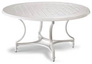 White Patio Tables Grayson Outdoor Dining Table In White Finish Patio