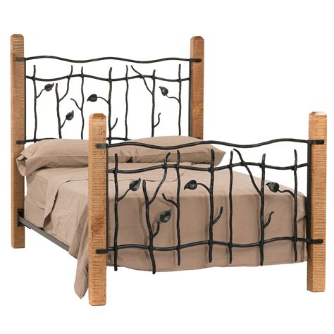Wood And Metal Bed Frame Iron Bed Frames Decofurnish