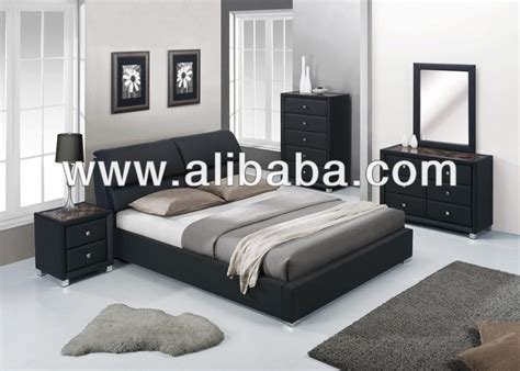 black leather bedroom sets sleigh bedroom furniture set with leather headboard 119