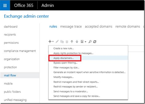 Office 365 Portal Disclaimer Setting Up Signature Or Disclaimer For All Users In Office