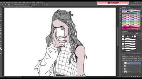 tutorial photoshop outline speedart tutorial tumblr outlines youtube