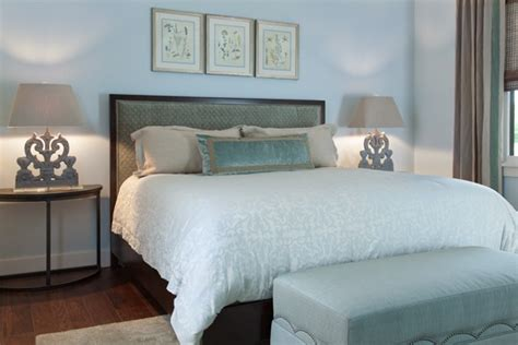 blue and cream bedroom big sky journal montana house heather scott home design