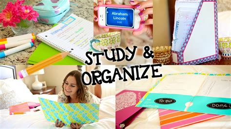 organization tips for college students study tips diy organization for back to school youtube