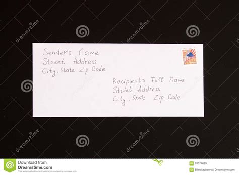Business Letter Sender S Address Format letter sender and receiver format stock photo image