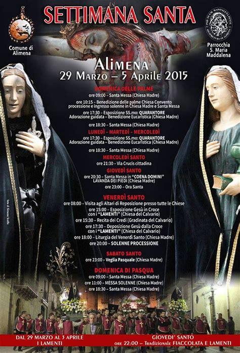 pasqua ad alimena 2016 programma pasqua ad alimena 2015 programma della settimana santa