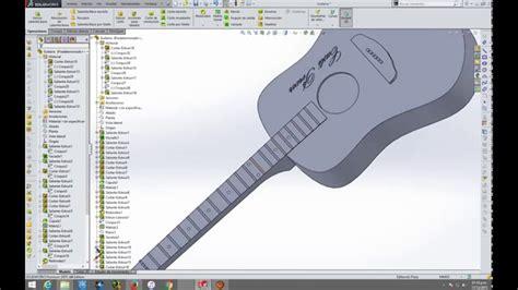 solidworks tutorial how to make guitar guitarra en solidworks youtube