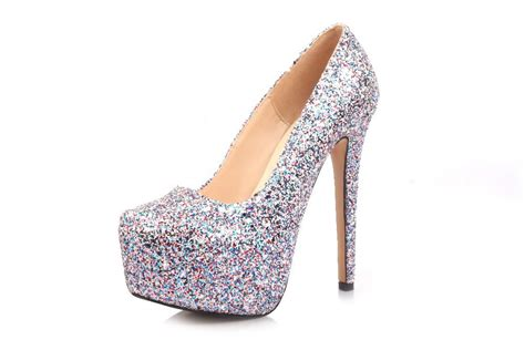 silver glitter high heel pumps 2015 new selling fashion silver glitter gz spike high