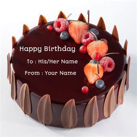 Happy Birthday Wishes With Name Edit Birthday Chocolate Velvet Decorated Cake With Your Name