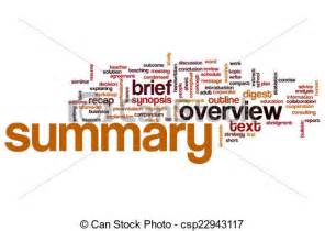 Summary word cloud clipart