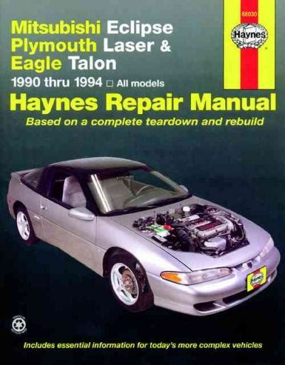 car owners manuals free downloads 1990 plymouth laser electronic toll collection mitsubishi eclipse plymouth laser eagle talon 1990 1994 sagin workshop car manuals repair