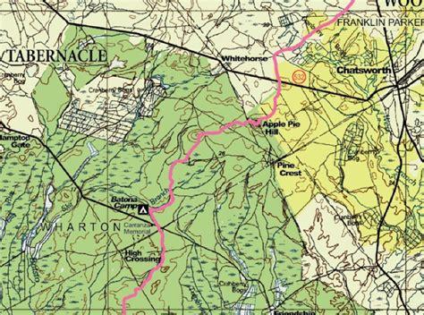 wharton state forest map batona trail carranza memorial to apple pie hill