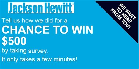 Win Gift Cards For Surveys - jackson hewitt feedback survey sweepstakes win 500 gift card sweepstakesbible