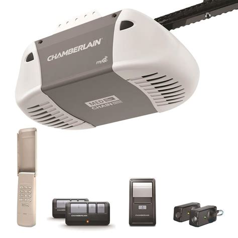 Chamberlain Garage Door Opener Support Shop Chamberlain 0 5 Chain Drive Garage Door Opener At Lowes