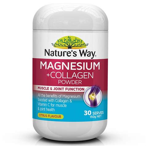 Nature S Way Collagen Powder 120g 1 buy nature s way magnesium plus collagen powder 150g at chemist warehouse 174