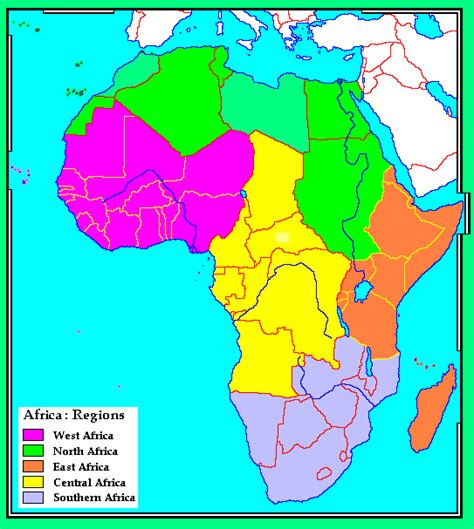 africa map regions whkmla historical atlas africa page