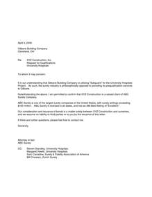 Letter Of Intent Tender Template Invitation To Bid Cover Letter
